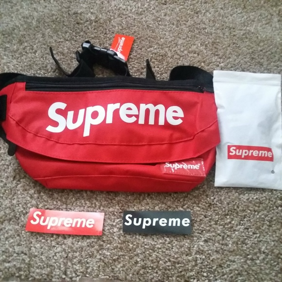Supreme Red Fanny Pack Waist Bag NWT